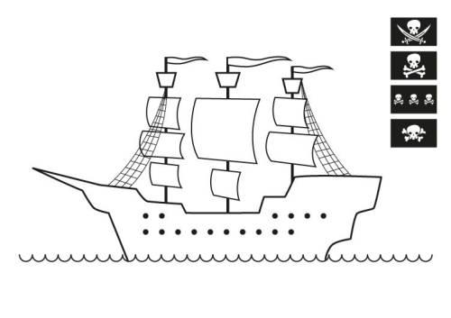 Kostenlose Malvorlage Piraten Piratenschiff Zum Ausmalen Zum Ausmalen