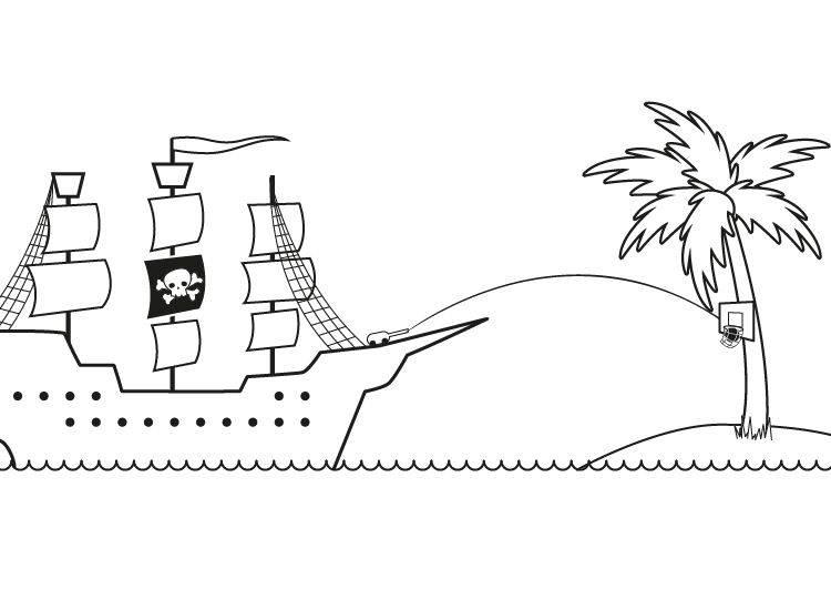Piratenschiff Malen