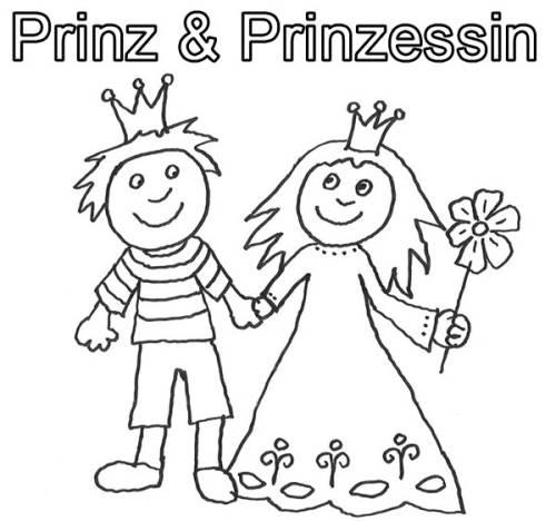 Kostenlose Malvorlage Prinzessin Prinz Und Prinzessin Hand In Hand