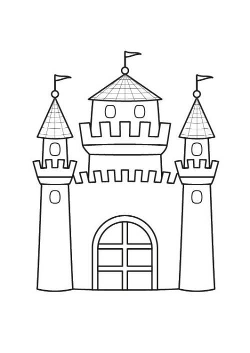 Kostenlose Malvorlage Prinzessin Prinzessinnenschloss Ausmalen Zum