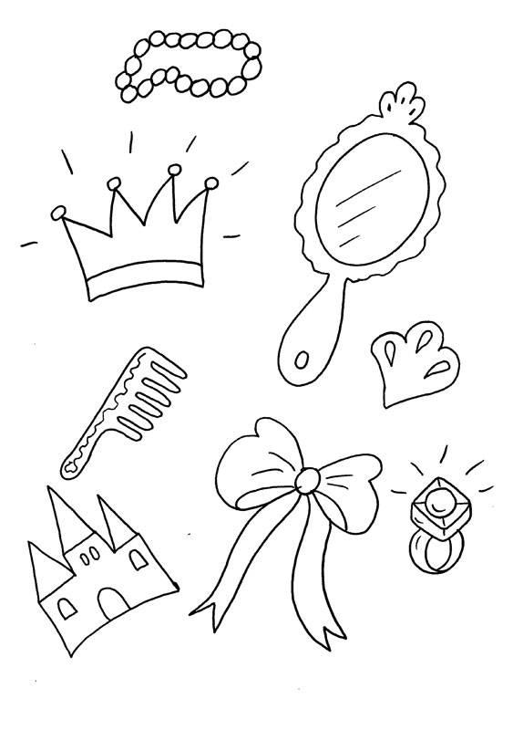 Ausmalbild Prinzessin Prinzessinnen Schmuck Kostenlos Ausdrucken