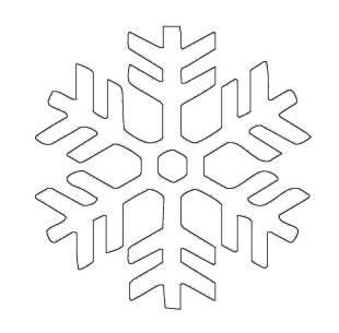und Sterne: Kostenlose Malvorlage: Schneeflocke 11 zum Ausmalen