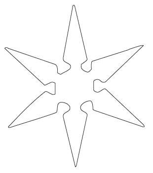 kostenlose malvorlage schneeflocken und sterne: kostenlose malvorlage: stern 9 zum ausmalen