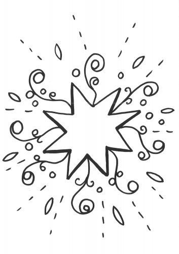 kostenlose malvorlage schneeflocken und sterne malvorlage