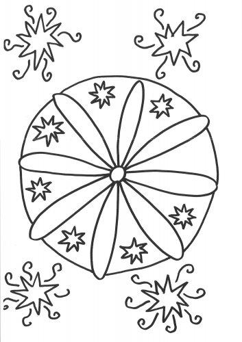 kostenlose malvorlage schneeflocken und sterne ausmalbild