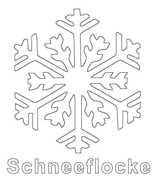 Kostenlose Malvorlage Winter: Schneeflocke zum Ausmalen zum Ausmalen