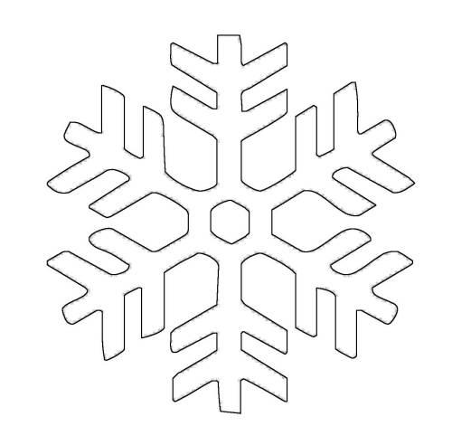 Kostenlose Malvorlage Schneeflocken Und Sterne Schneeflocke