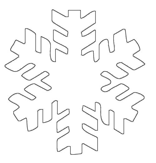 Kostenlose Malvorlage Schneeflocken und Sterne: Schneeflocke 3 zum ...