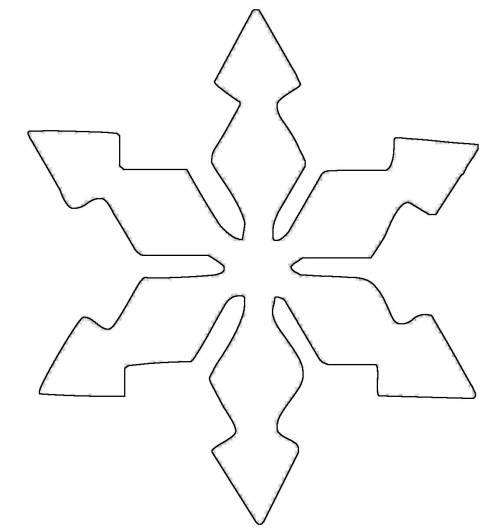 kostenlose malvorlage schneeflocken und sterne schneeflocke 6 zum ausmalen. Black Bedroom Furniture Sets. Home Design Ideas