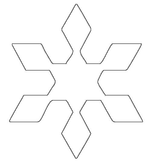 kostenlose malvorlage schneeflocken und sterne stern 11