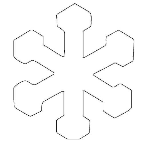 kostenlose malvorlage schneeflocken und sterne stern 12
