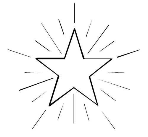 Kostenlose Malvorlage Schneeflocken und Sterne: Stern 4 zum Ausmalen