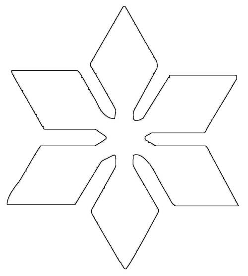 kostenlose malvorlage schneeflocken und sterne stern 8 zum ausmalen. Black Bedroom Furniture Sets. Home Design Ideas