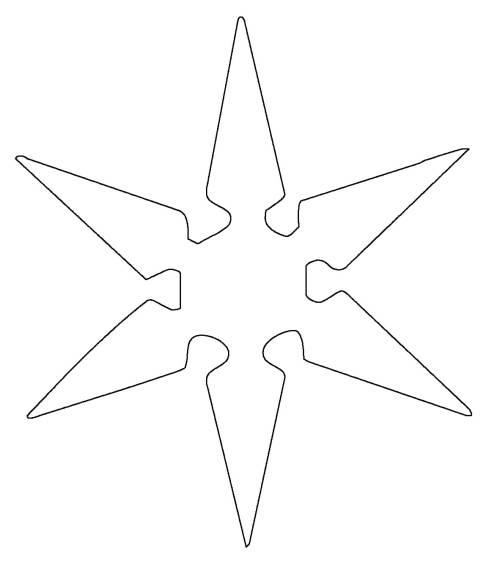 kostenlose malvorlage schneeflocken und sterne stern 9