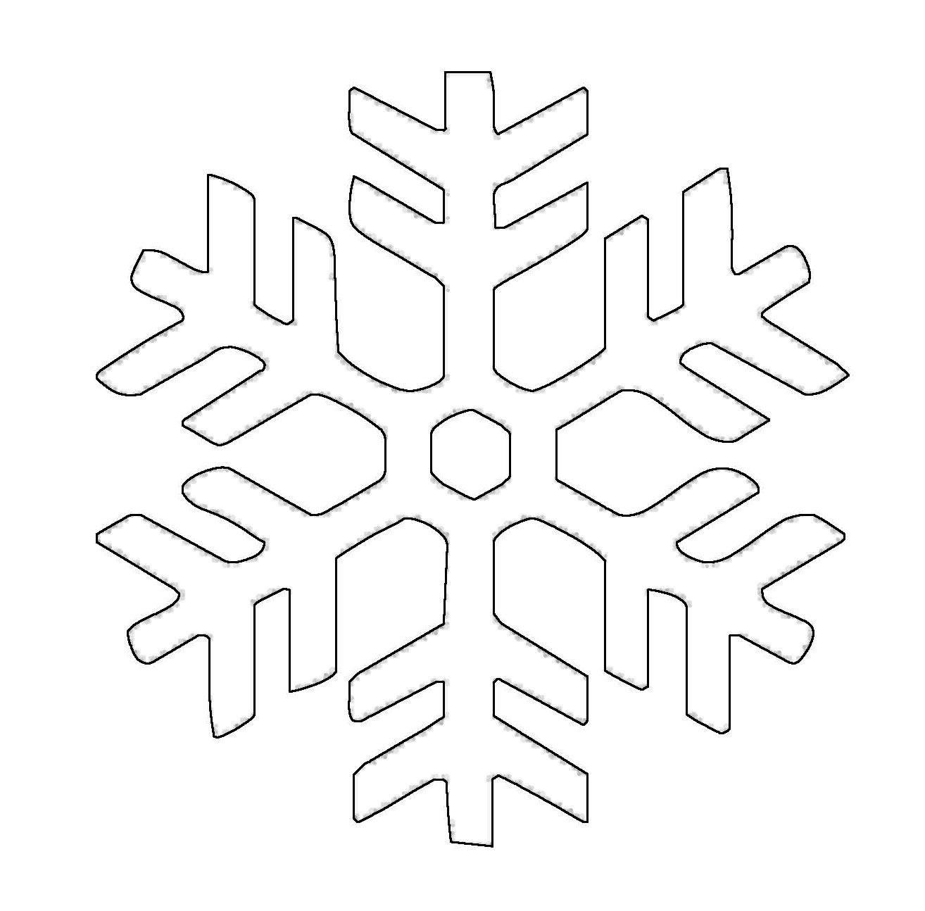 kostenlose malvorlage schneeflocken und sterne schneeflocke 11 zum ausmalen. Black Bedroom Furniture Sets. Home Design Ideas