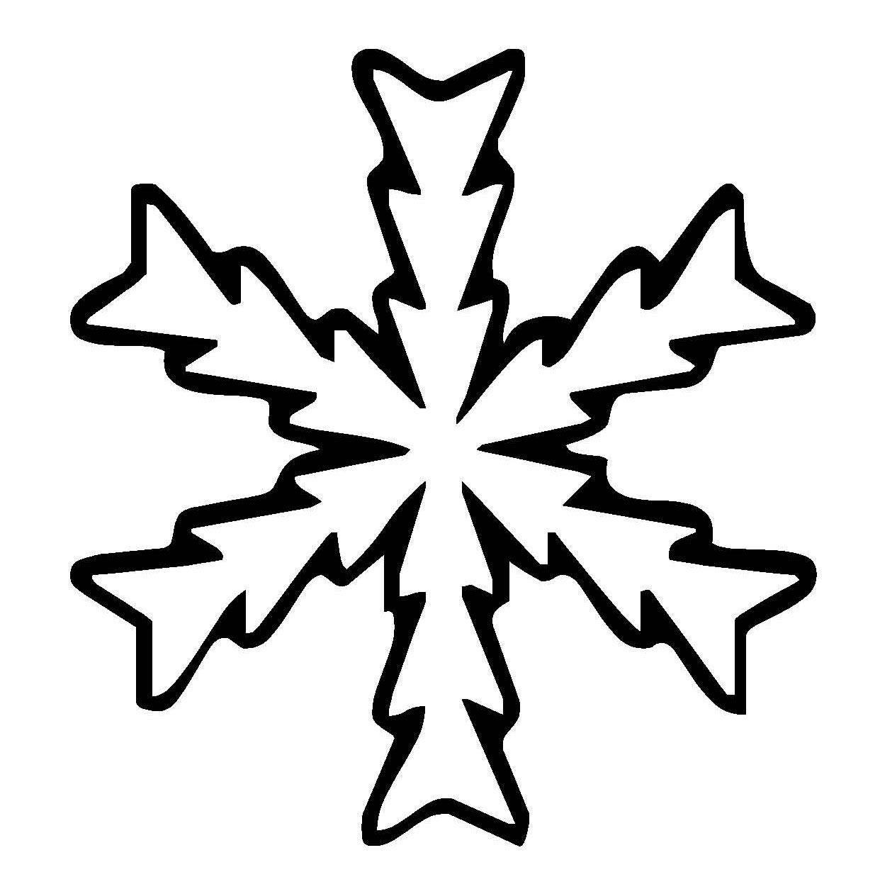 kostenlose malvorlage schneeflocken und sterne schneeflocke 16 zum ausmalen. Black Bedroom Furniture Sets. Home Design Ideas