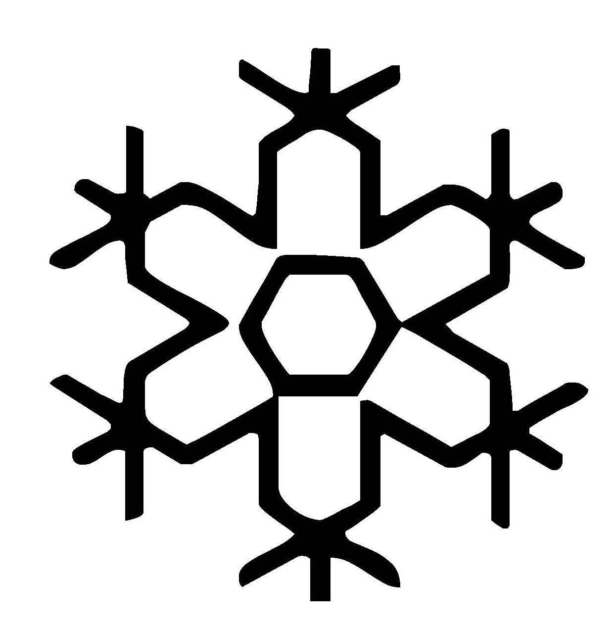 ausmalbild schneeflocken und sterne schneeflocke 18