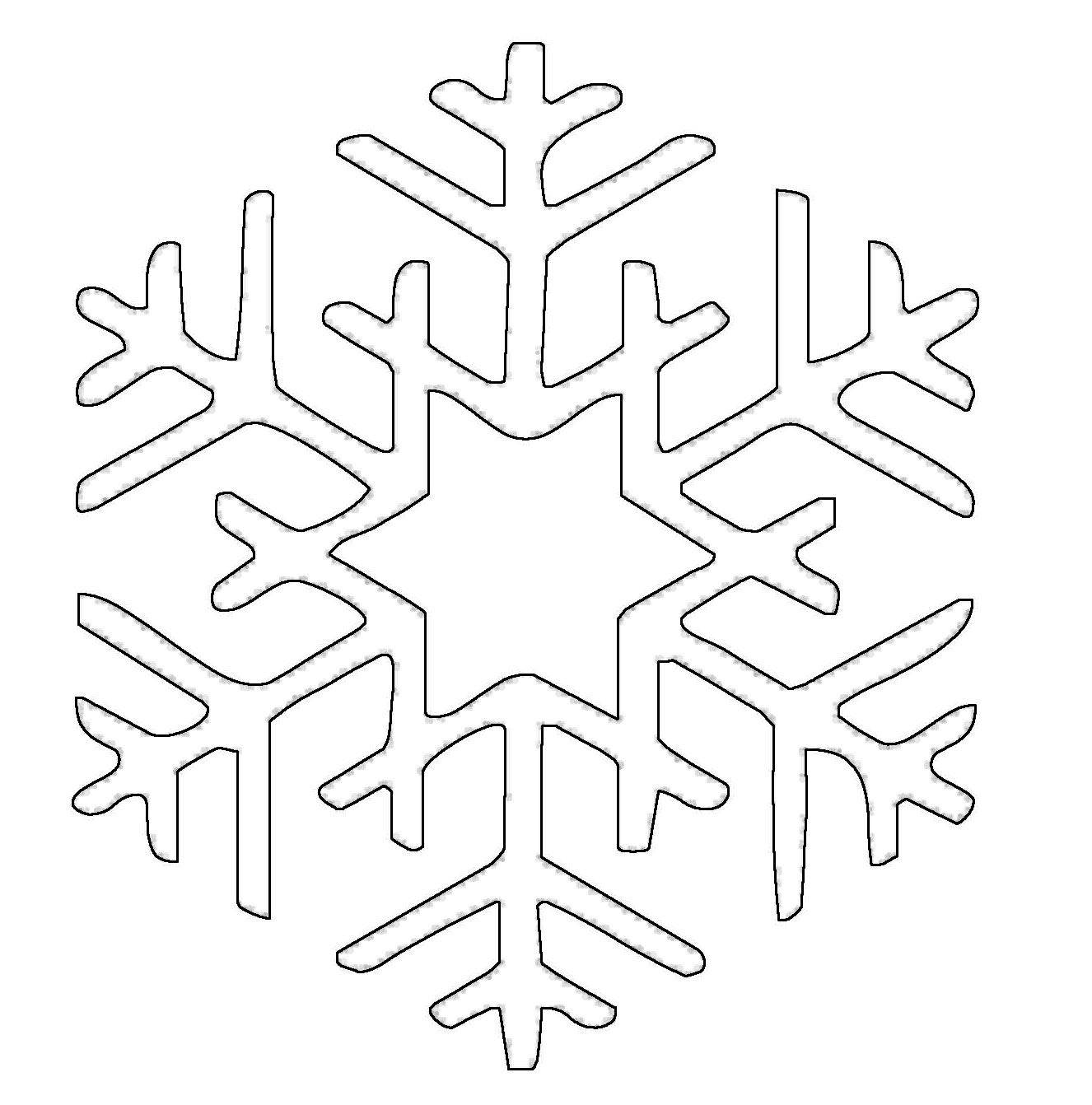kostenlose malvorlage schneeflocken und sterne schneeflocke 19 zum ausmalen. Black Bedroom Furniture Sets. Home Design Ideas