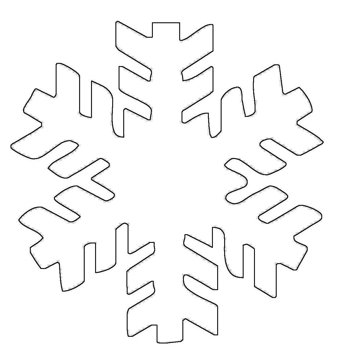 ausmalbild schneeflocken und sterne schneeflocke 3