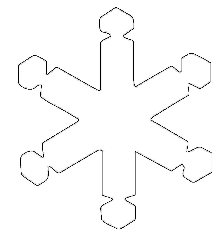 kostenlose malvorlage schneeflocken und sterne schneeflocke 7 zum ausmalen. Black Bedroom Furniture Sets. Home Design Ideas