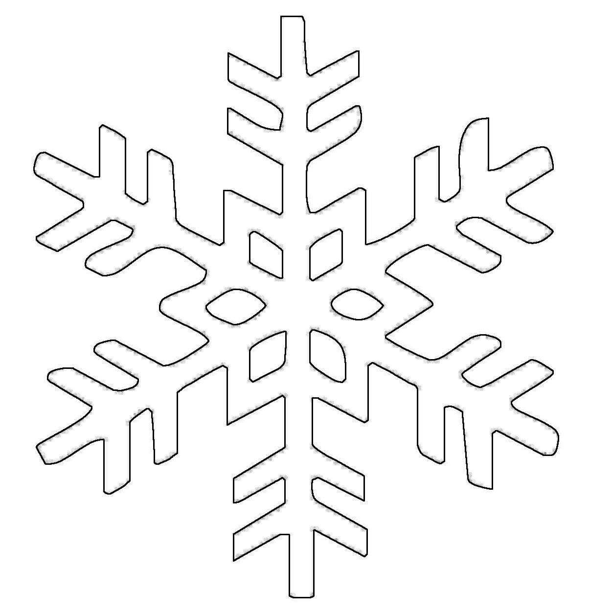 kostenlose malvorlage schneeflocken und sterne schneeflocke 8 zum ausmalen. Black Bedroom Furniture Sets. Home Design Ideas