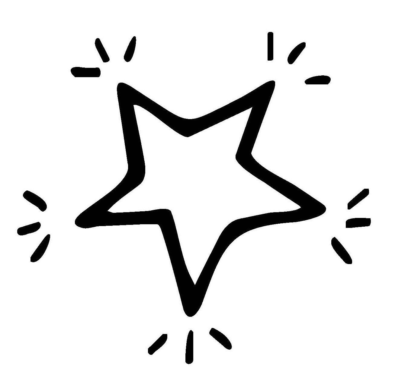 kostenlose malvorlage schneeflocken und sterne stern 1