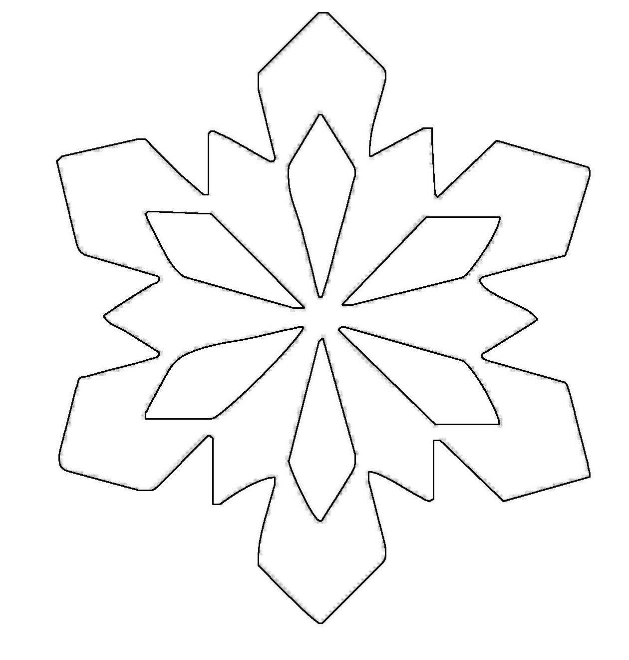ausmalbild schneeflocken und sterne stern 13 kostenlos