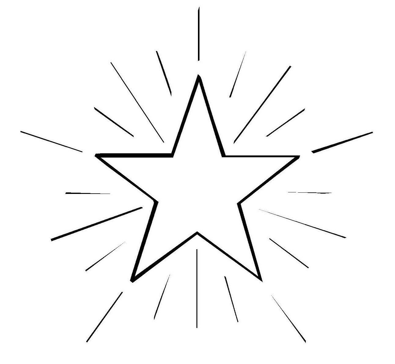 Ausmalbild Schneeflocken und Sterne: Stern 4 kostenlos ausdrucken