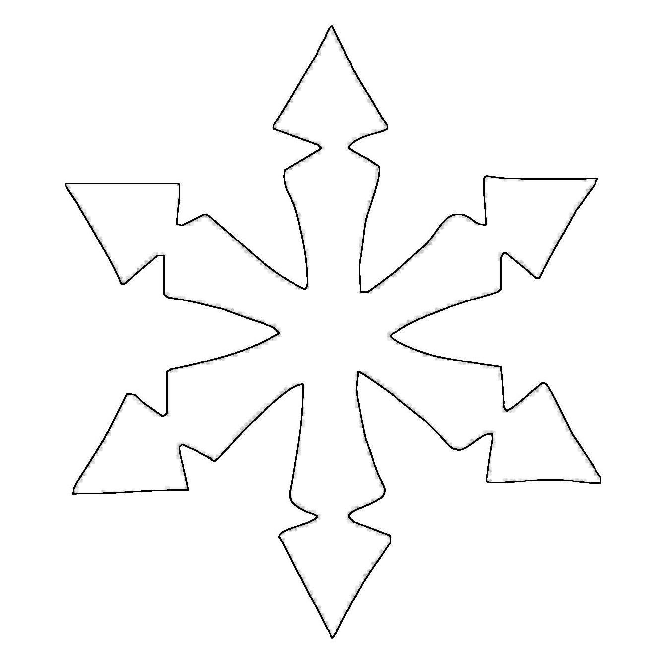 kostenlose malvorlage schneeflocken und sterne: stern 7