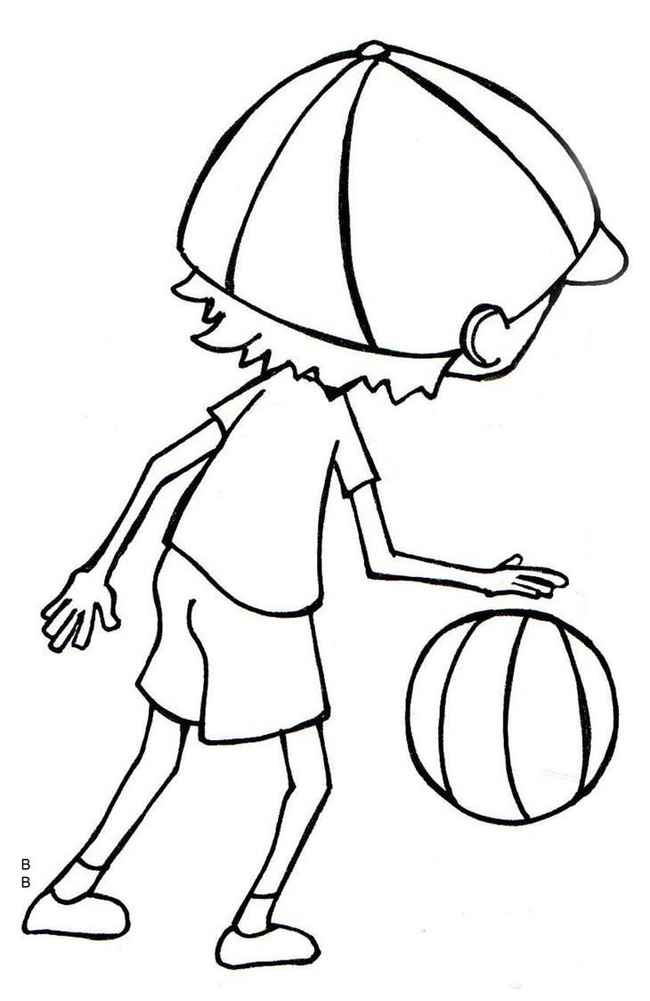 Ausmalbild Schule Basketball Kostenlos Ausdrucken