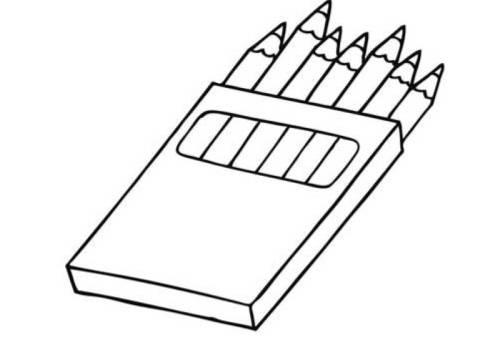 Kostenlose Malvorlage Schule: Buntstifte zum Ausmalen