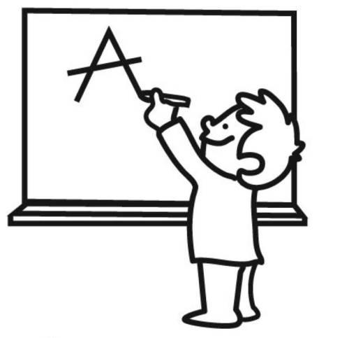 Kostenlose Malvorlage Schule Schuler An Der Tafel Zum Ausmalen