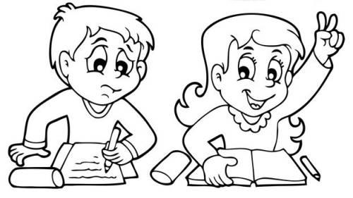 kostenlose malvorlage schule grundschüler an der