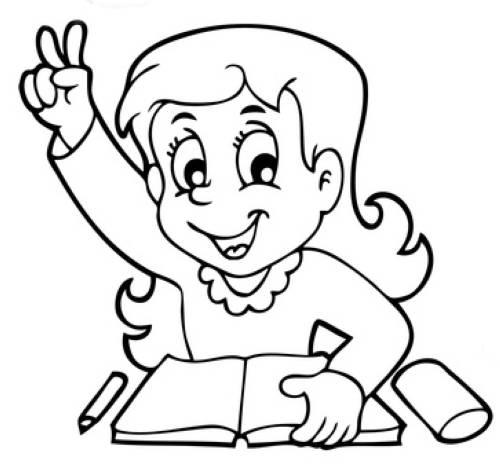 kostenlose malvorlage schule schulkind meldet sich zum