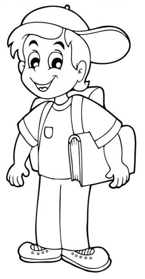 kostenlose malvorlage schule erstklässler auf dem weg zur