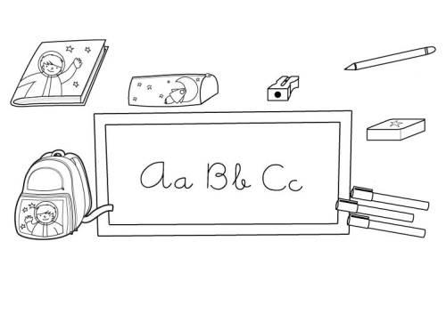 kostenlose malvorlage schule schulsachen zum ausmalen zum ausmalen. Black Bedroom Furniture Sets. Home Design Ideas