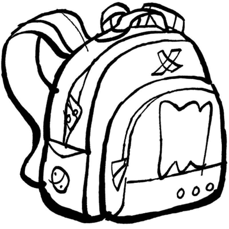 kostenlose malvorlage schule rucksack zum ausmalen