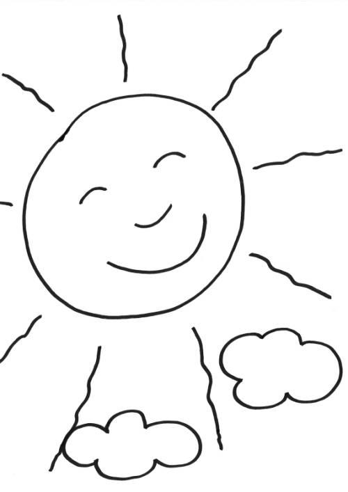 kostenlose malvorlage sommer sonne ausmalen zum ausmalen