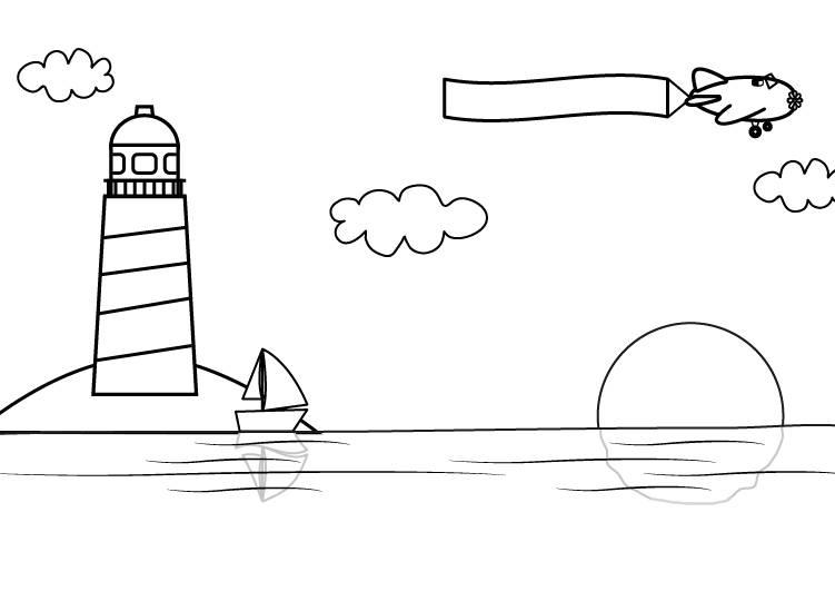 kostenlose malvorlage sommer sonnenuntergang am meer zum