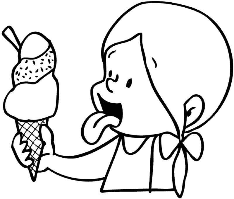Ausmalbild Geburtstag Riesiges Eis Zum Geburtstag Kostenlos