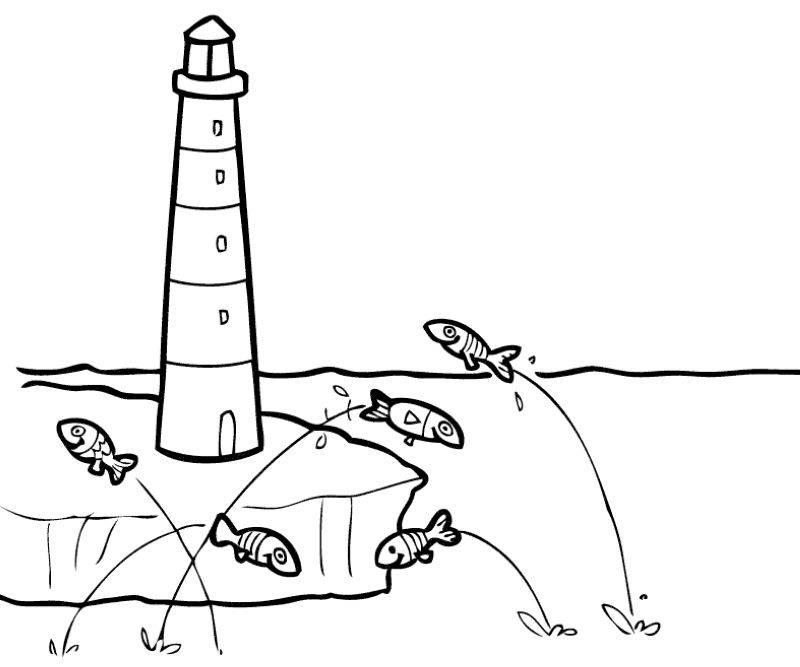 Leuchtturm Malvorlage Coloring And Malvorlagan
