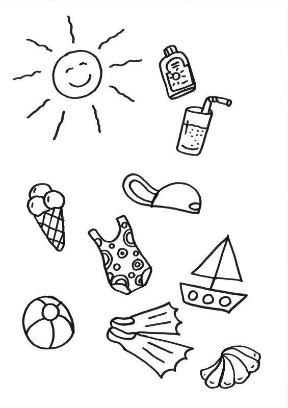 kleurplaten zomer strand kids n fun de 22 ausmalbilder von