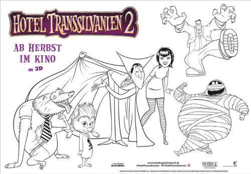 Kostenlose Malvorlage Halloween: Hotel Transsilvanien 2 zum Ausmalen