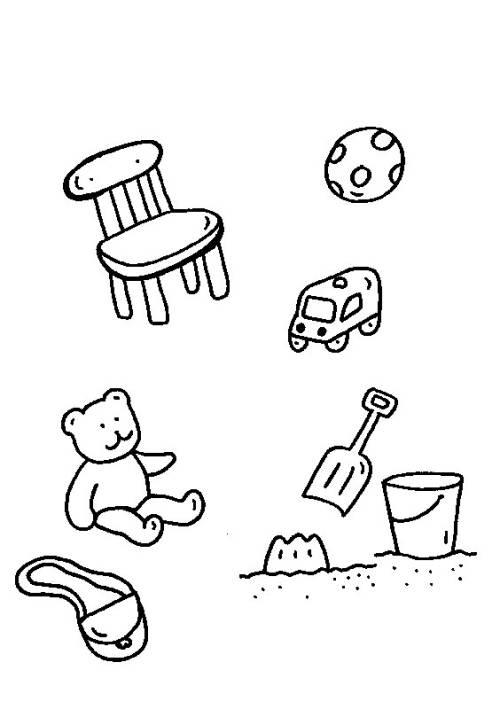 Kostenlose Malvorlage Rund Ums Spielen Spielsachen Zum Ausmalen Zum