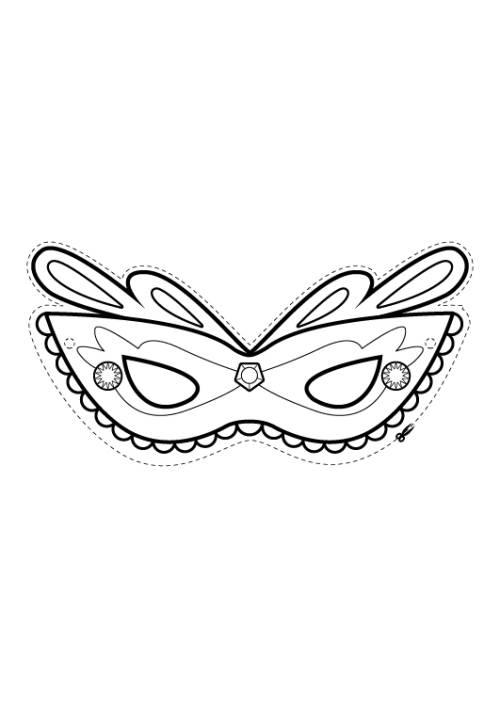Kostenlose Malvorlage Rund Ums Spielen Madchen Maske Zum Ausmalen