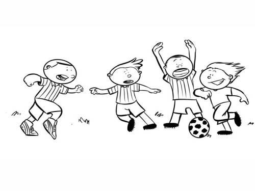 Kostenlose Malvorlage Sport Fußballspiel Zum Ausmalen