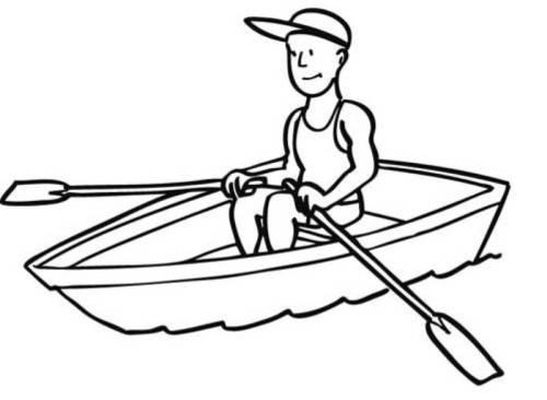 Kostenlose Malvorlage Sport Fußball Geschenk Zum Ausmalen: Kostenlose Malvorlage Sport: Ruderboot Zum Ausmalen
