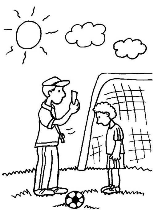 Kostenlose Malvorlage Sport Rote Karte Beim Fussball Zum