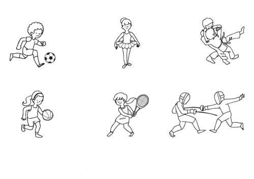 Kostenlose Malvorlage Sport Sportarten Für Kinder Zum Ausmalen Zum