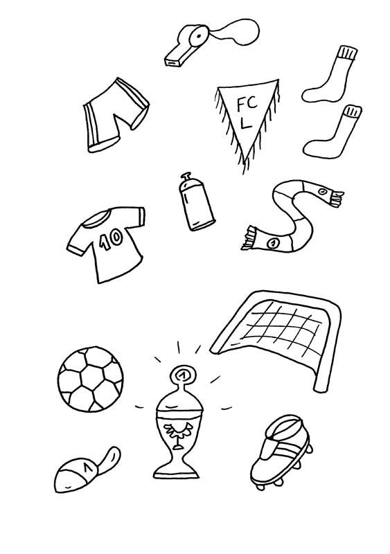 Ausmalbild Sport Alles Rund Um Fußball Kostenlos Ausdrucken